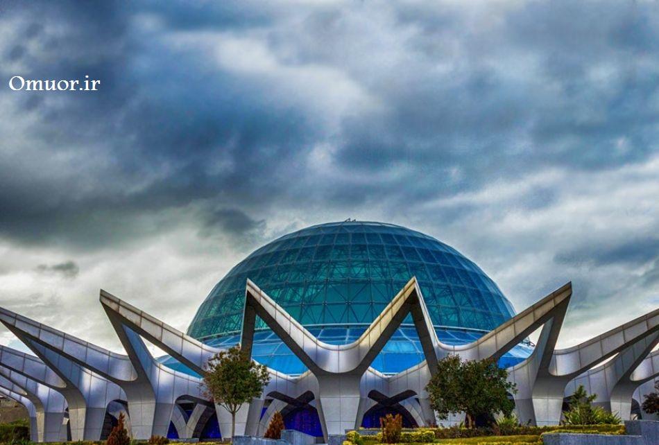 آسمان نمای گنبد مینا در تهران /گنبد مینا (آسمان نمای پارک آب و آتش)