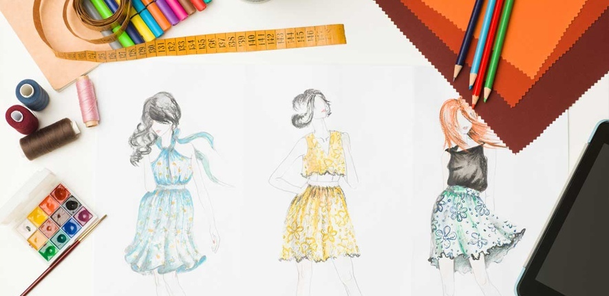 طراحی لباس در خانه