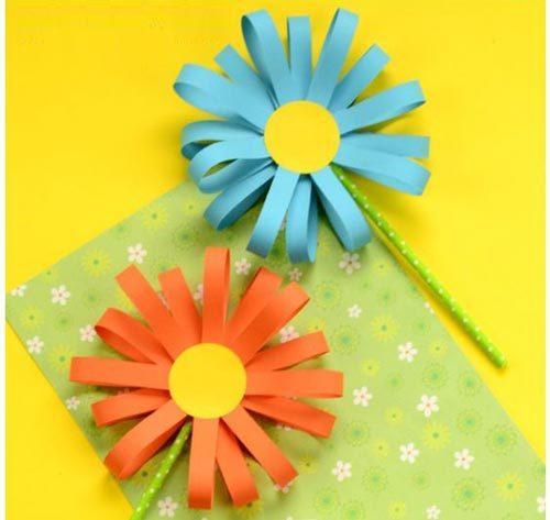 آموزش ساخت گل تزیینی با کاغذ رنگی
