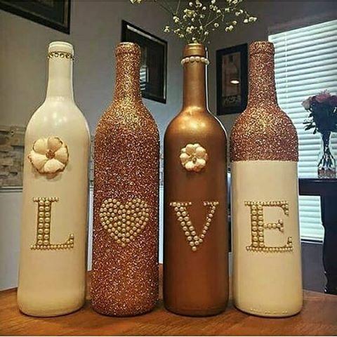 ایده برای تزئین بطریهای دور ریختنی