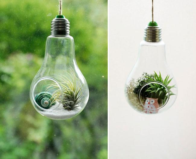 آموزش ساخت گلدان بسیار زیبا با لامپ / ساخت گلدان با لامپ