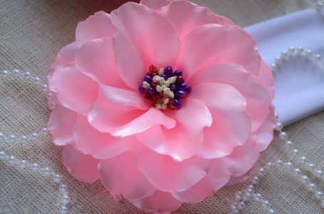 ساخت گل با روبان با روش ساده
