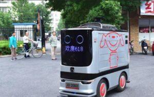 پیشرفت رباتهای چینی تحویل کالا به لطف کرونا!